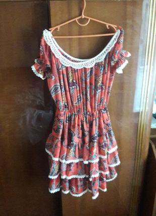 Платье  крепдешиновое