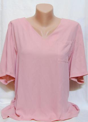 Шикарная блуза с нагрудным карманчиком и молнией на спинке