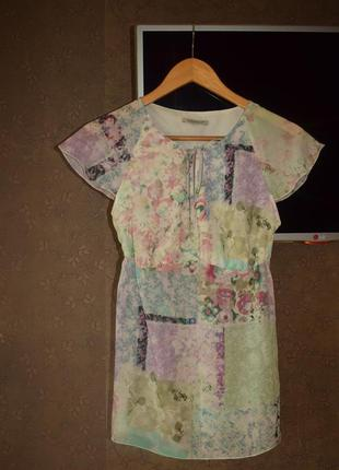 Нежная пастельная блузка xxs-xs
