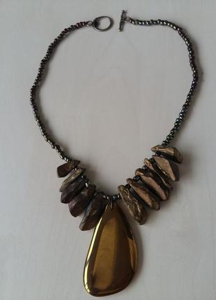 Золотое ожерелье из пирита