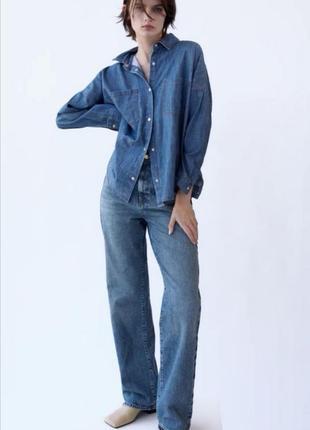 Фирменная джинсовая рубашка