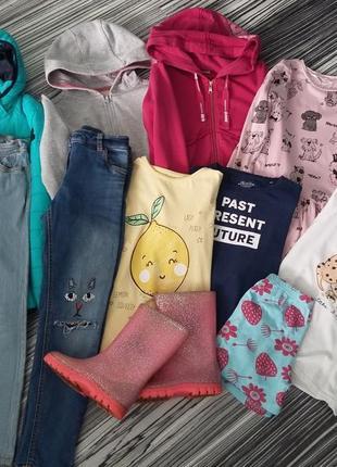 Пакет одежды на девочку 7 лет 450 грн.