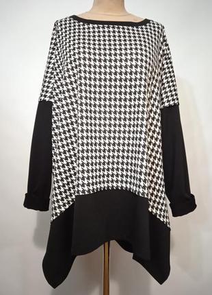Новая блуза туника из трикотажа в большом размере оверсайз