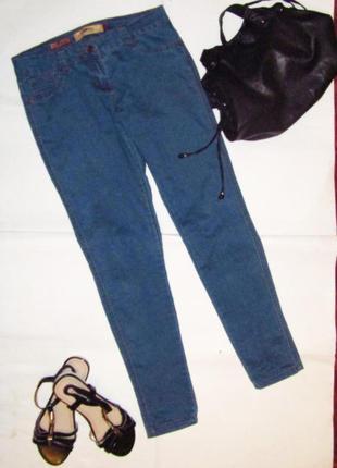 Синие джинсы-скинни  в отличнейшем состоянии - ходовой 12 размер.