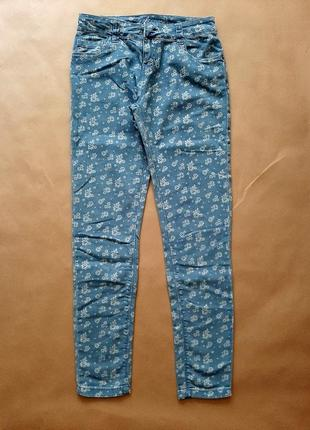 Denim co джинси квітковий принт xs-s