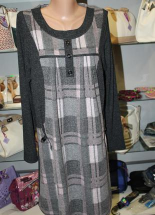 Теплое платье, туника. р52