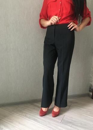 Стильный классические брюки штаны в полоску с закотом классика стильно zero
