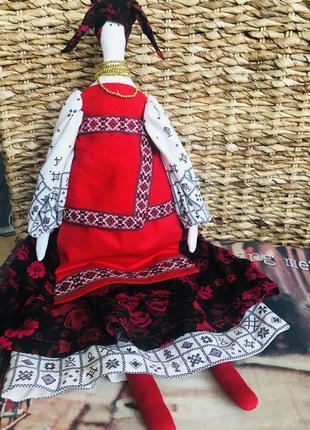 Интерьерная кукла в стиле тильда, солоха