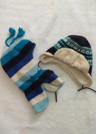 Шапка-шлем  и шапка на завязках lenne