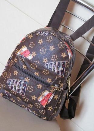 Модный молодежный городской рюкзак в стиле лв, lv