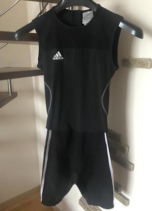 Супер классный комбинезон для спорта для бега для фитнеса костюм спортивный адидас
