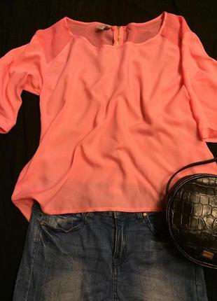 Яркая фирменная блуза zebra(италия),блузочка+подарок ремешок