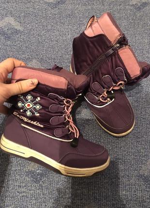 Ботинки дутики зимние стильные теплые не zara