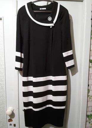 Деловое трикотажное платье, р. 48, panda, беларусь