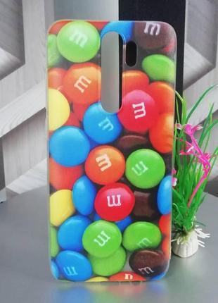 Силиконовый чехол для xiaomi redmi note 8 pro принт драже m&m`s