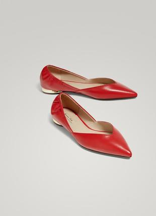 Кожаные туфли лодочки massimo dutti  39 размер