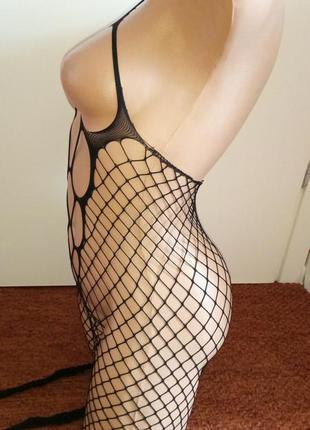 Чулок сетка на всё тело, сексуальное белье эротическое кетсьюит комбинезон комбидресс боди