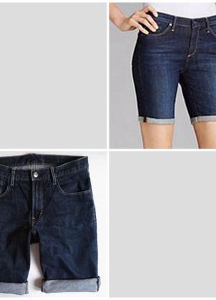 Стильні подовжені джинсові шорти h&m,p. s-xs