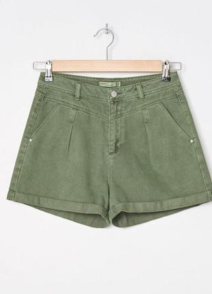 Шорты джинсовые с высокой талией