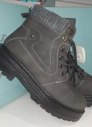 Теплые ботинки 🍁❄️ зима -  евро зима деми на меху тракторная