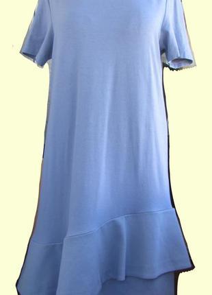 Оригинальное платье фирмы  cos  с воланами размер  l