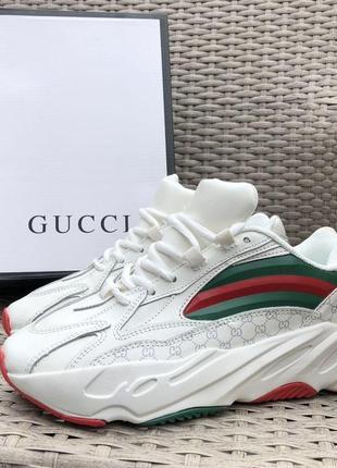 Мужские белые кроссовки gucci🆕мужская обувь gucci🆕гуччи