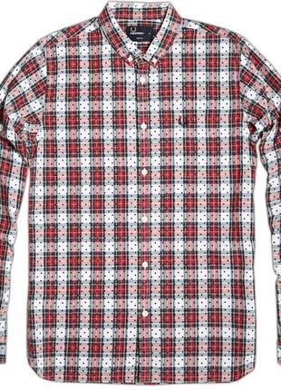 Клетчатая рубашка fred perry stewart tartan dot shirt