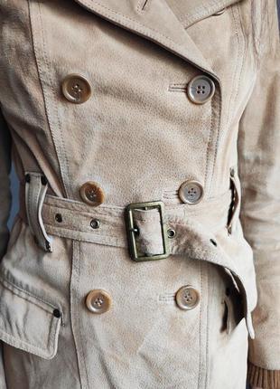 Куртка замшевая, замшевый тренч