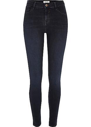 Новые  темно-синие узкие джинсы, узкачи, скинни