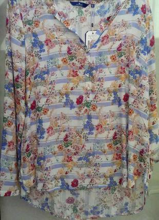 Нежнейшая блуза цветочный принт вискоза