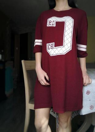 Платье туника бордового цвета от colins