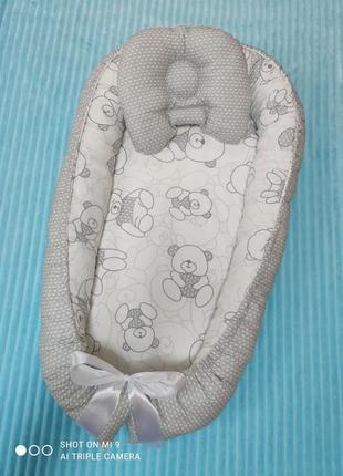 Кокон гнёздышко позиционер бебинест с подушкой