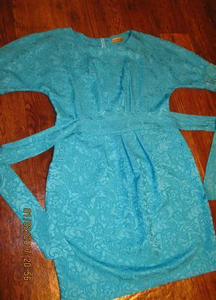 Шикарное бирюзовое платье!!!