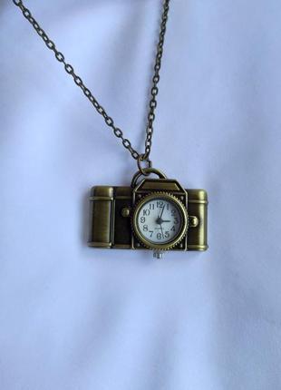 Винтажные карманные часы фотоаппарат на цепочке