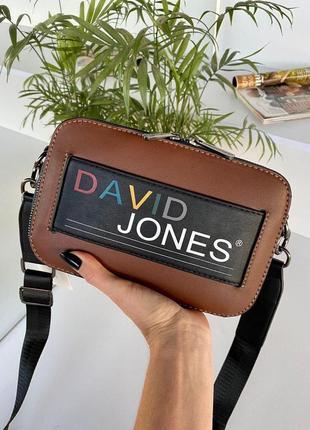Женская сумка кросс-боди david jones colors (коричневый)