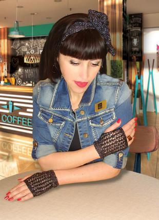 Митенки – перчатки и повязка на голову – trendy, brandy & stylish
