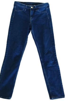 Синие стрейчевые скинни / skinny