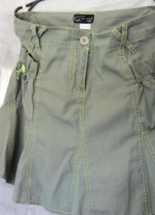 Стильная молодежная юбка-8-клинка с удобными карманами  на резинках. париж
