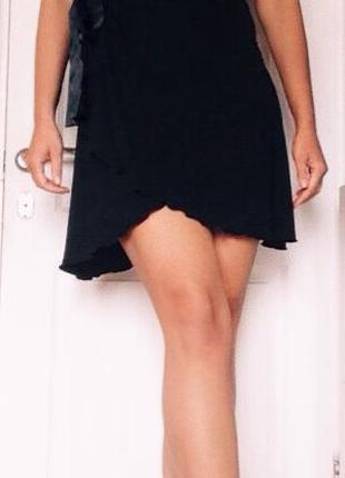 Черное мини-платье mexx
