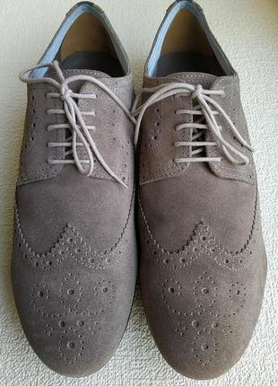 Замшевые туфли броги geox, италия.