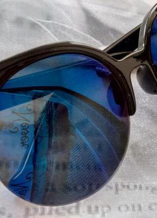 """Солнцезащитные очки """"кошачий глаз"""" хит сезона, синие линзы"""