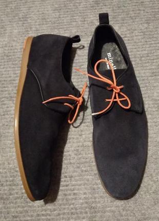Туфлі minelli р. 41 нат. замша*
