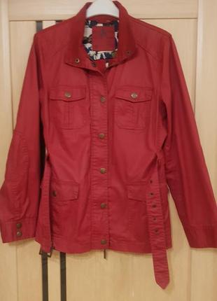 Куртка рубашка котоновая красная