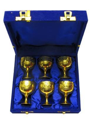 Рюмки для спиртных напитков бронзовые позолоченые подарочные