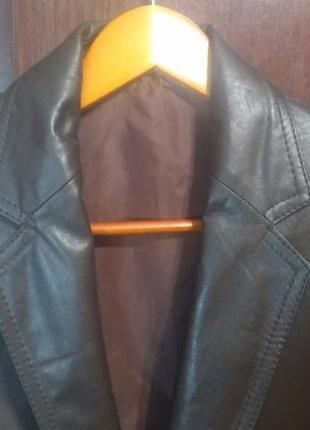 Мужской пиджак из натуральной кожи
