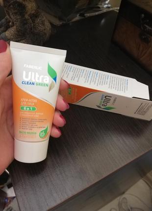 Крем актив для лиця faberlic, ultra clean green
