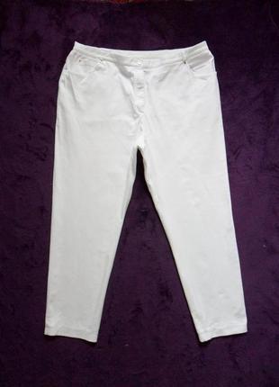 Боталы большие белые джинсы скинни basler, 20 размер .