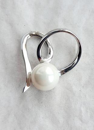 Серебряный кулон-подвес с жемчугом, серебро 925 проба. арт. 301/3