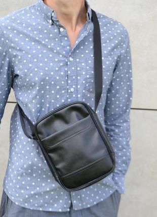 Зручний чоловічий мессенджер з екошкіри месенджер сумка через плече