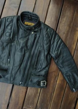 Женская байкерская куртка sportex apollo натуральная кожа
